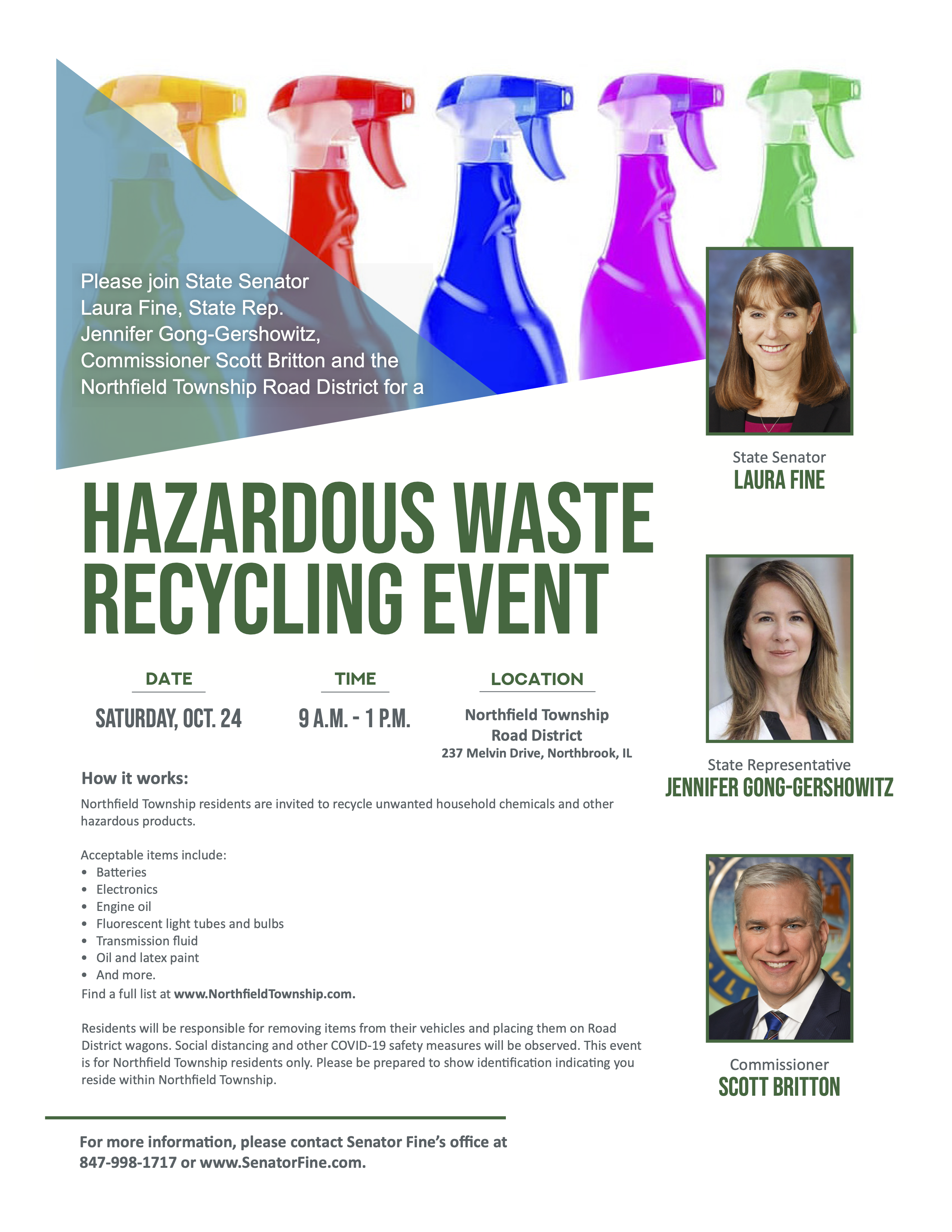 Fine Hazardous Waste Recycling Event Flyer